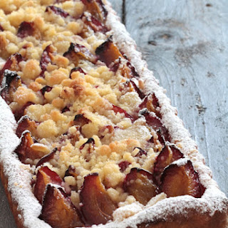 Austrian Plum Cake with Streusel