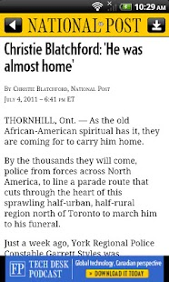National Post Mobile- screenshot thumbnail