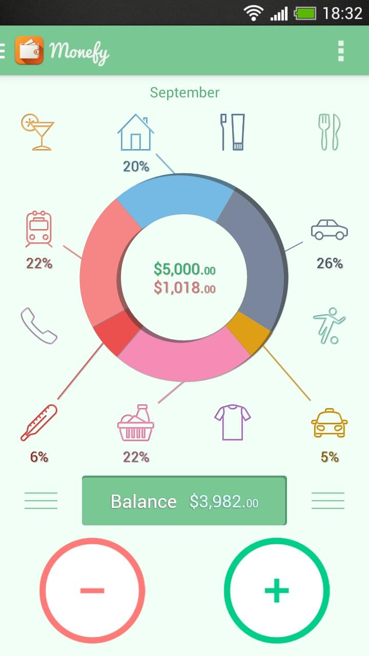 Monefy - Money Manager screenshot #1