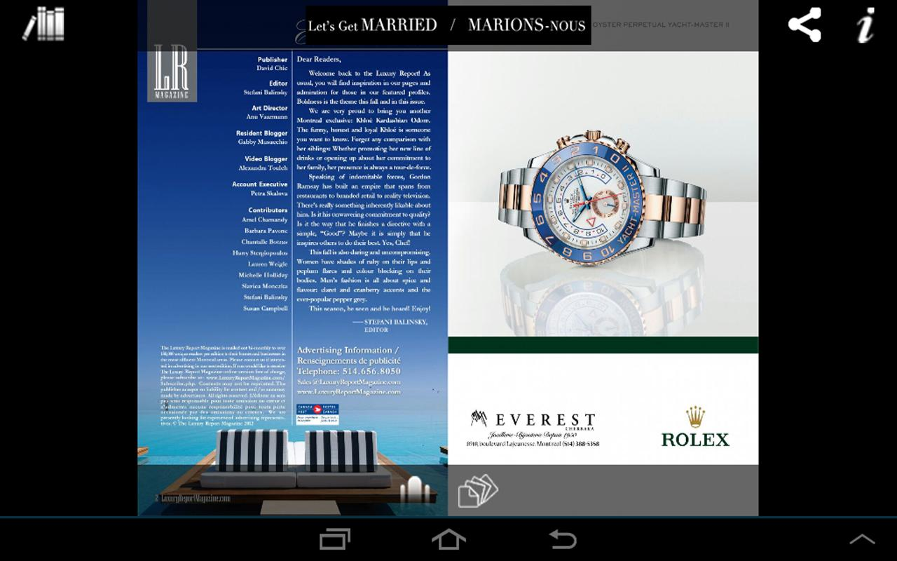 Luxury Report Magazine- screenshot