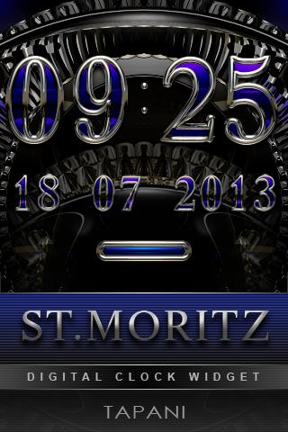 St.Moritz digital Clock Widget