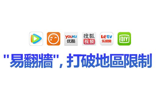 【 易翻牆】免費看搜狐愛奇藝騰訊華數天天動聽等