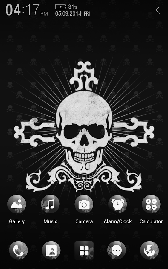 Black Skull Atom Theme - screenshot