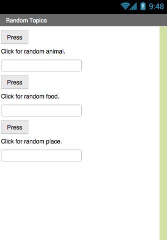 Random Topic Chooser