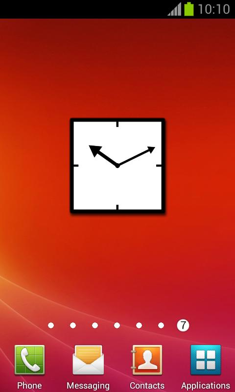 Basic Style B&W Clock + alarm - screenshot