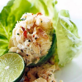 Avocado-Stuffed Spicy Crab Salad