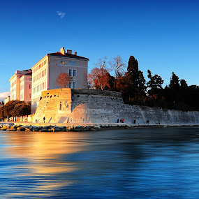 The other side  by Davor Strenja - City,  Street & Park  Historic Districts ( old, blue, sunset, croatia, sea, zadar )