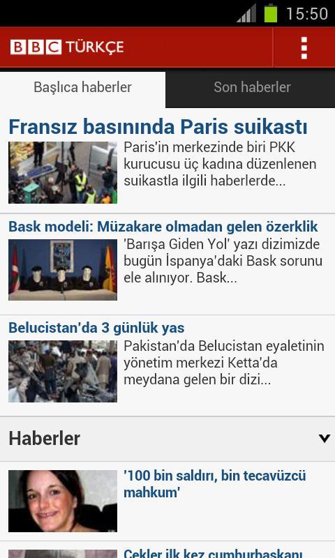 BBC Türkçe - screenshot