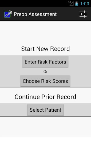 Preop Risk Assessment