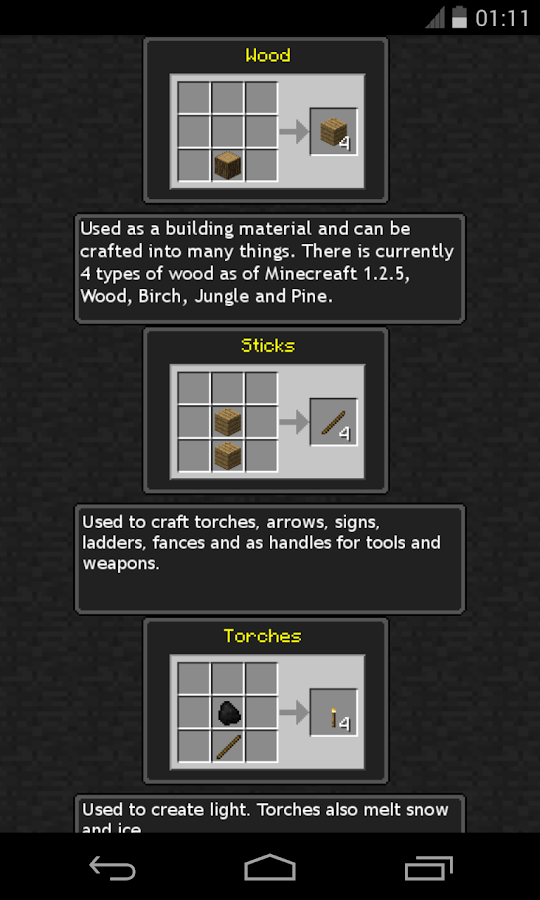 Craft! - A Minecraft Guide- screenshot