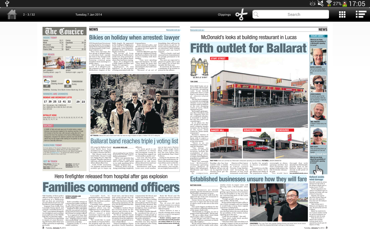 The Courier eEdition- screenshot