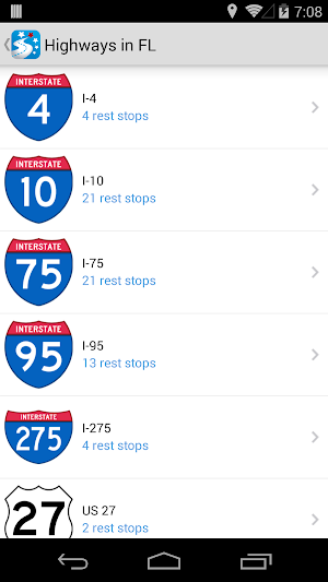 10 USA Rest Stop Locator App screenshot