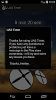 Screenshot of UAV (UAS) Flight Timer