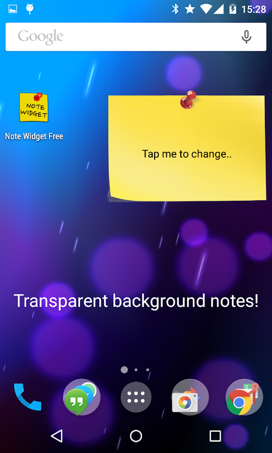 Note Widget - screenshot