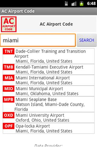 AC Airport Code