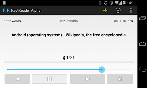 FastRead Alpha screenshot 1