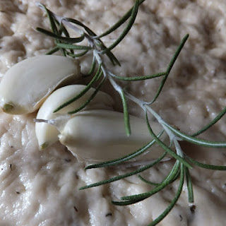 Garlic and Rosemary Focaccia Bread.