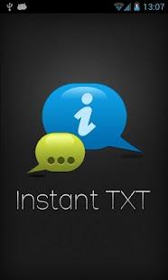 Instant Text SMS Txt screenshot
