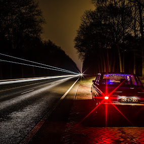 RoadStar by Wahan Shahbazian - Transportation Automobiles ( car, trees, night, volvo, road, oldtimer, trails, woods,  )
