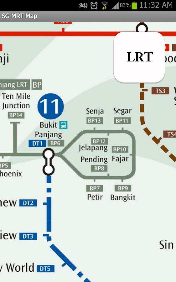 Singapore MRT Map- screenshot