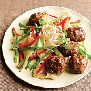 Pork Meatballs with Noodles.