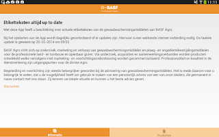 Screenshot of BASF producten