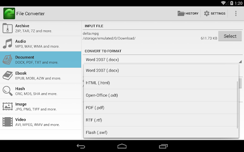 File Converter- screenshot thumbnail