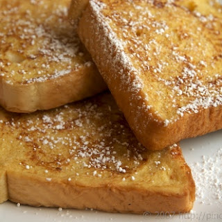 Spiked Egg Nog French Toast.