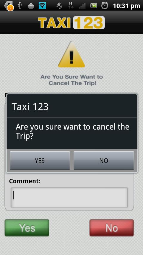 Taxi123 - screenshot