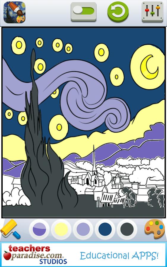 vincent van gogh coloring book screenshot - Van Gogh Coloring Book