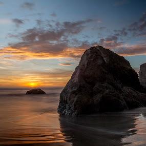 Bandon Sunset II by Glenn Miller - Landscapes Beaches ( bandon, oregon, sunset, beach )