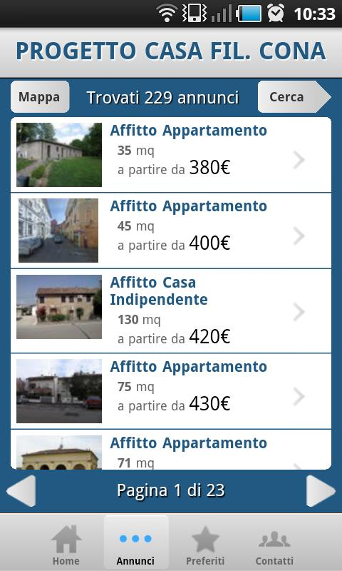 IMMOBILIARE PROGETTO CASA fil. - screenshot