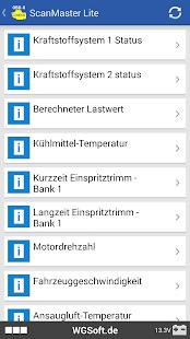 ScanMaster für ELM327 OBD-2 Diagnose Screenshot