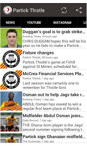 Partick Thistle Fan App