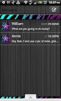 Screenshot of GO SMS THEME/MultiColorZebra