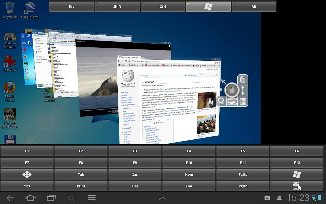 RDP Remote Desktop aFreeRDP- screenshot