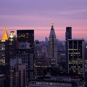Just Before Sunset - New York City Facing South by Tina Marie - City,  Street & Park  Skylines