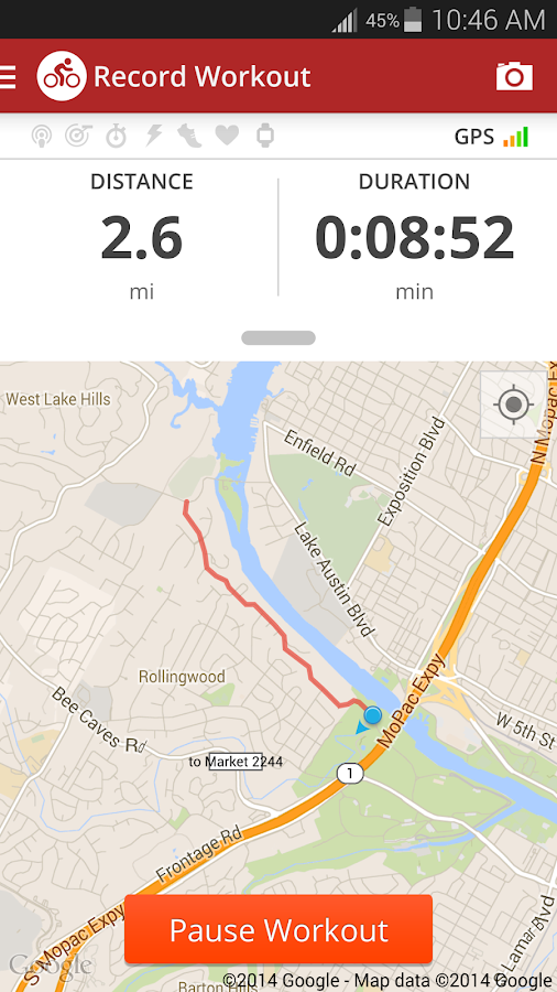 Map My Ride+ GPS Cycling - screenshot