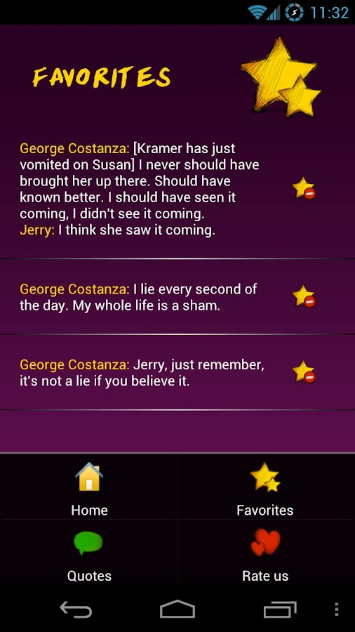 Seinfeld Memorable Quotes - screenshot