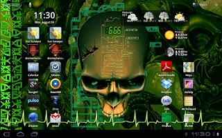 Screenshot of Biomechanical Skull Wallpaper