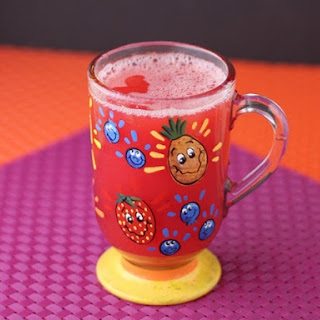 Simple Pink Pineapple Juice