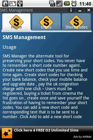 SMS Manager - screenshot