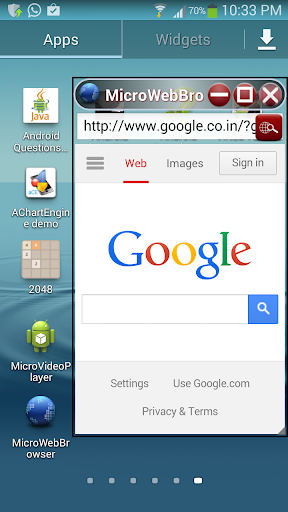 Micro Web Browser