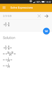 Solve Expressions - screenshot thumbnail
