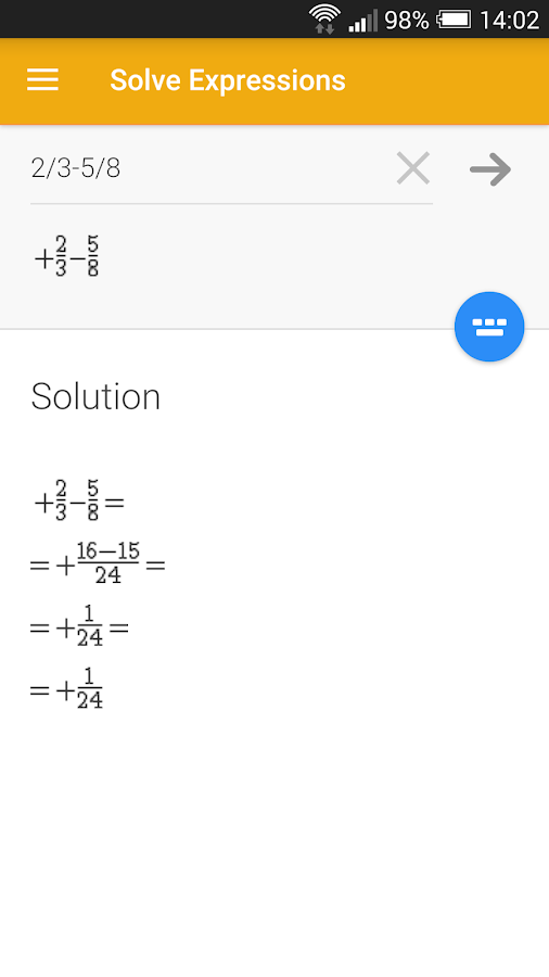 Solve Expressions - screenshot