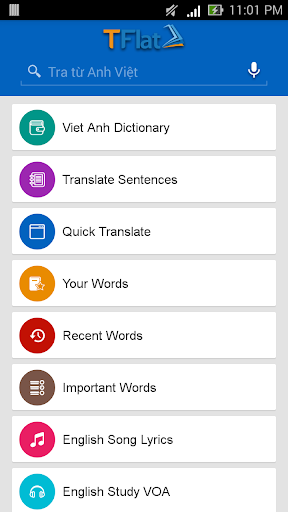 English Vietnamese Dictionary TFlat 6.4.8 screenshots 8