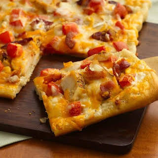 Chicken and Bacon Ranch Pizza.