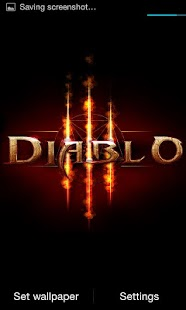 Diablo 3 Fire Live Wallpaper - screenshot thumbnail