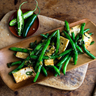 Stir-Fried Beans With Tofu and Chiles