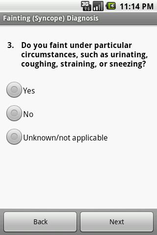 Fainting Self Diagnosis Doctor screenshot 2